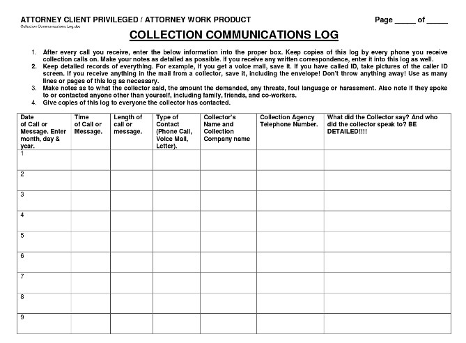 collection-communications-log